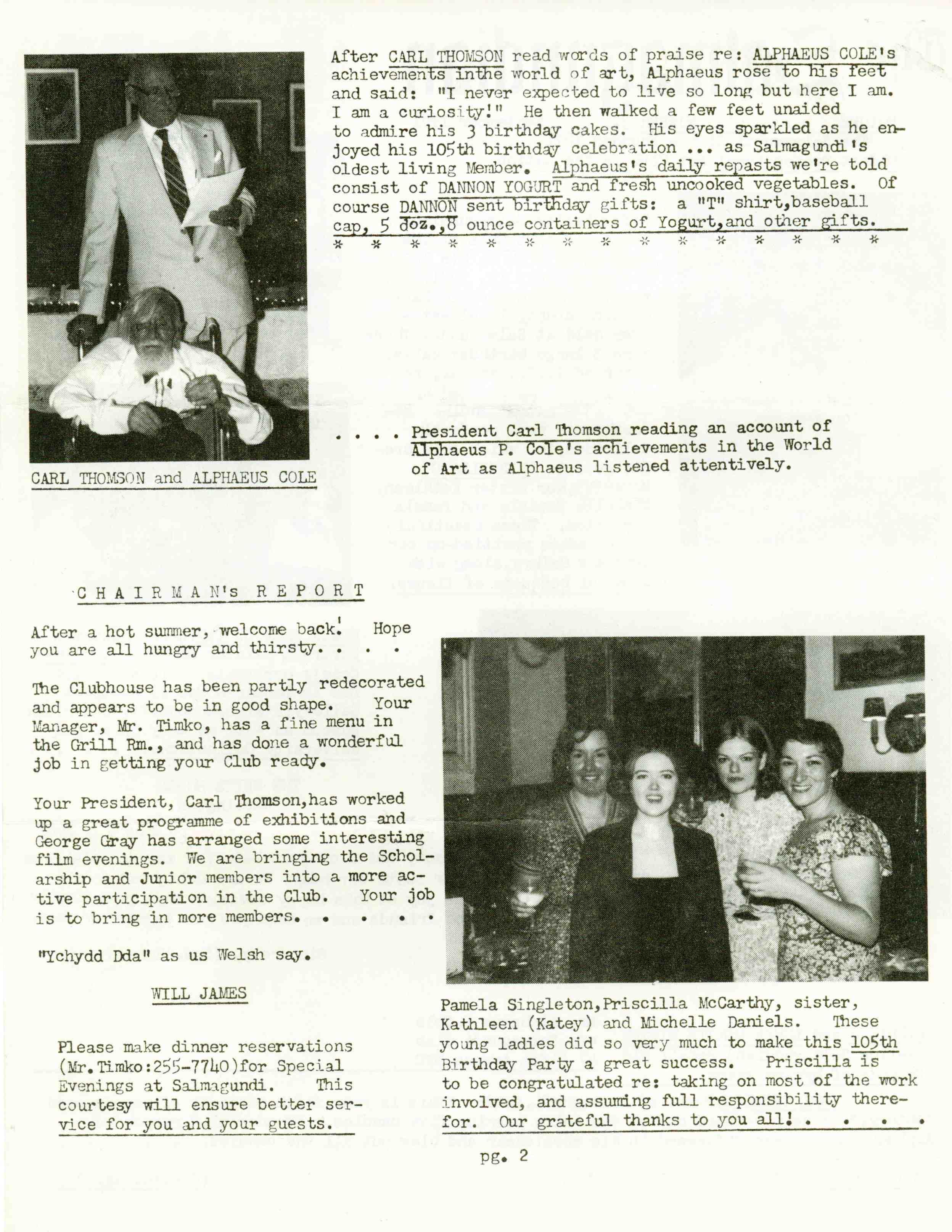 The Salmagundian September 1981 • Volume 3 Number 3 The Salmagundian