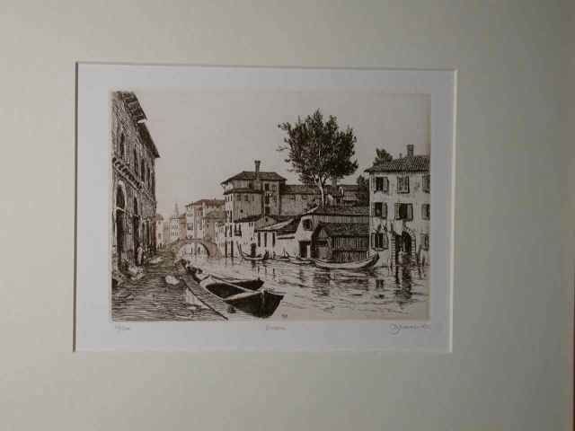 """Venezia"" (1982) Daniel Graves (edition 116/200) Etching (5"" x 7"") $465"