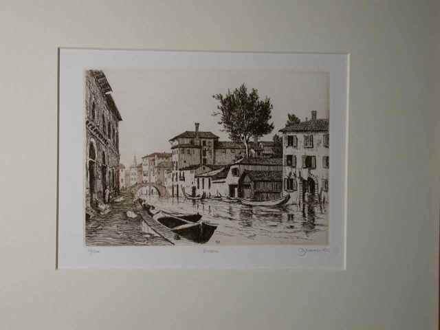 """Venezia"" (1982) Daniel Graves (edition 116/200) Etching (5"" x 7"") $465"