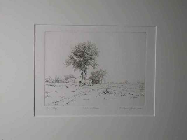 """Tribute to Inness"" (artist proof) Daniel Graves (1977) Etching (5"" x 7"") $485"