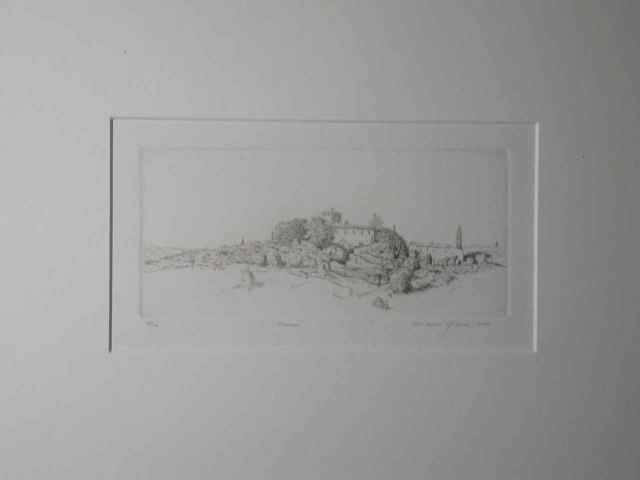 """Firenze"" (1978) Daniel Graves (edition 23/200) Etching (3"" x 6 1/4"") $435"