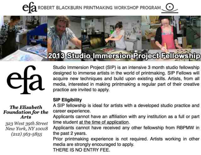 BB-EFA Printmaking Fellowship
