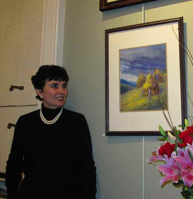 Georgette Sinclair in the Patron's Gallery.