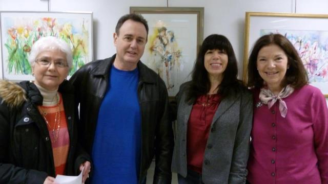 SCNY @ The Locust Valley LibraryL-R: Angela Stratton, Mitch Kahn, Lisa Argentieri, Marie Sheehy-Walker