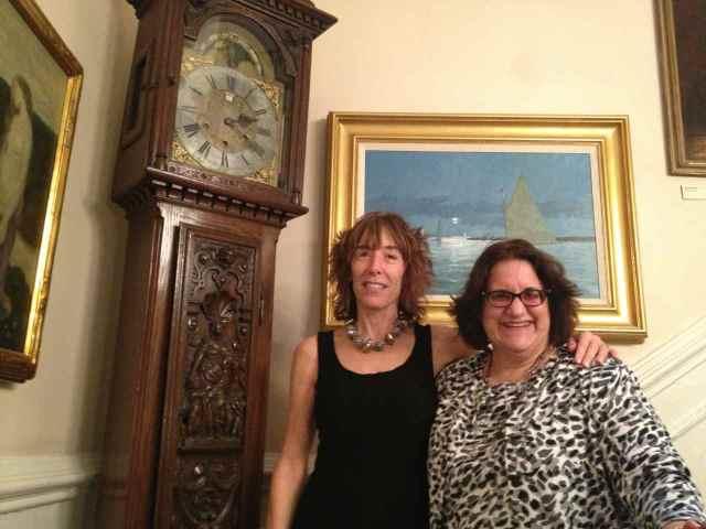 Author B.A. Shapiro and Library Chair Barbara Genco