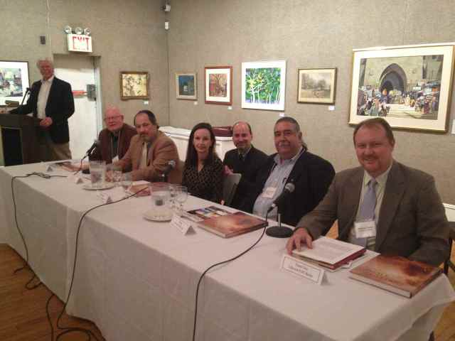 L-R: Tim Newton, Douglas Allen, Tom Davies, Elizabeth Harrington, Peter Trippi, Robert Mueller, Thomas Tener