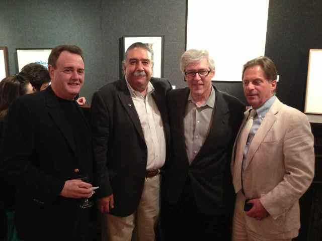 Mitch Kahn, Bob Mueller, Bob Pillsbury & Stephen Fredericks at the opening reception of the New York Society of Etchers' Third National Exhibition.