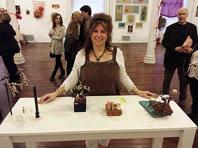 """Debra Friedkin at the Wah Center of Williamsburgh's """"Toxcity"""" opening."""