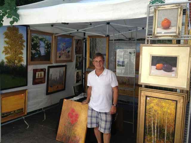Patrick Antonelle at the Spring 2013 Washington Square Outdoor Art Exhibit