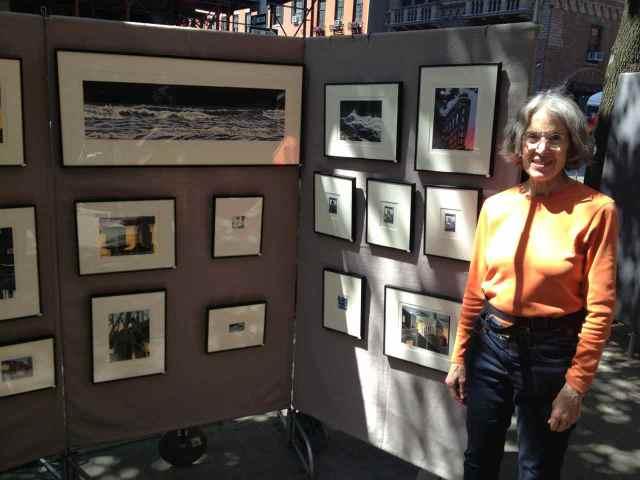 Emily Trueblood at the Spring 2013 Washington Square Outdoor Art Exhibit