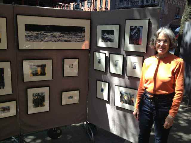 Emily Trueblood at the Spring 2013 Washington Square Outdoor Art Exhibit