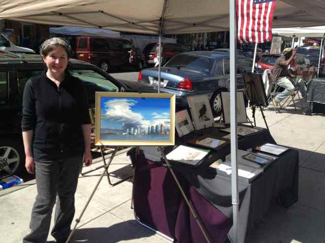 Annie Patt at the Spring 2013 Washington Square Outdoor Art Exhibit