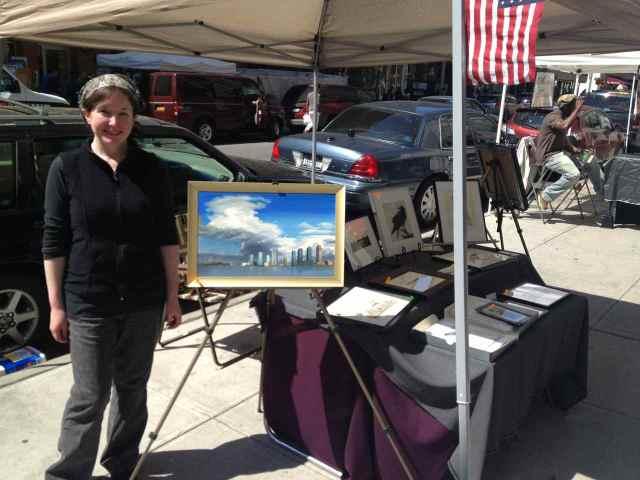 Annie Patt at the Spring 2013 Washington Square Outdoor Art Exhibit