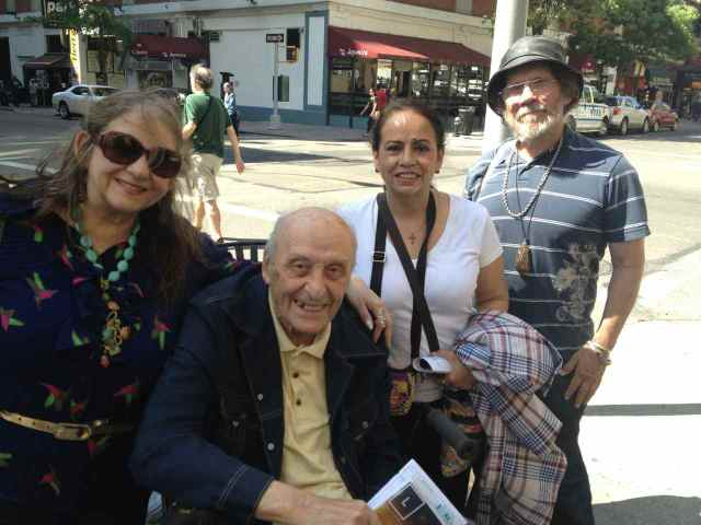 Carolyn Antonnucci and her dad with Denise & Jeffrey Berman at the Spring 2013 Washington Square Outdoor Art Exhibit