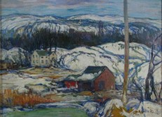 "Winnipauk Hills, Oil, 12""x16"" (Exh @ SCNY c. 1922-24)"
