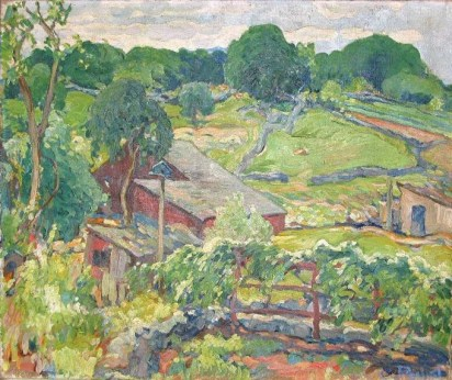 "Seir Hill, Norwalk, Oil (1916) 20""x24"""