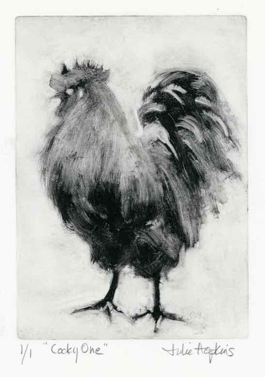 """Cocky One"" by Julie Hopkins. Voted into the SCNY Permanent Collection."